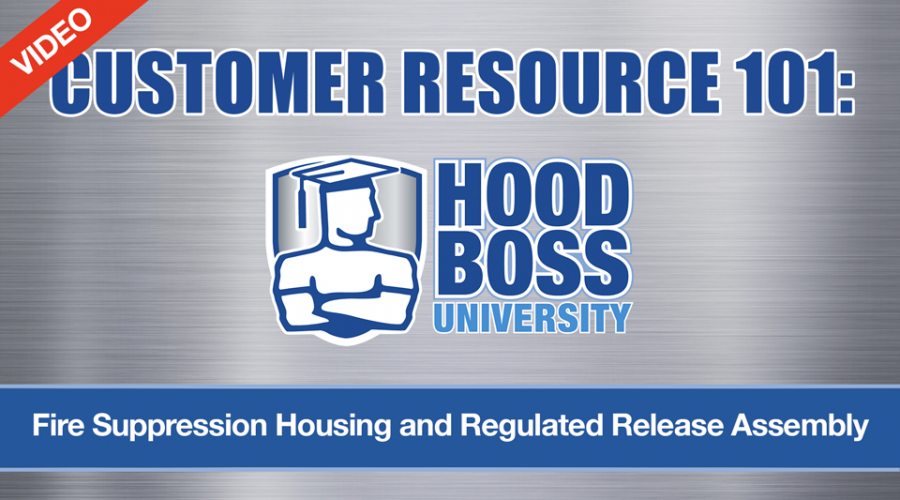 Commercial Kitchen Fire Suppression Housing and Regulated Release Assembly (Video)