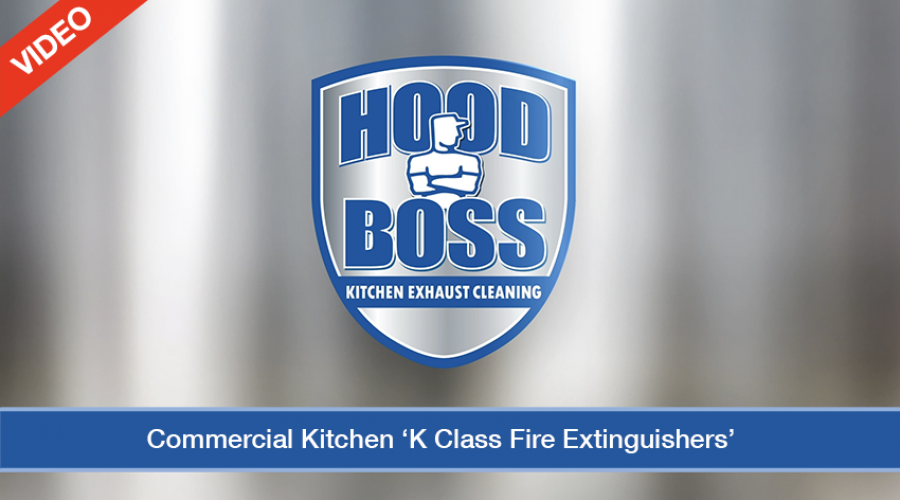 Commercial Kitchen K Class Fire Extinguisher (Video)